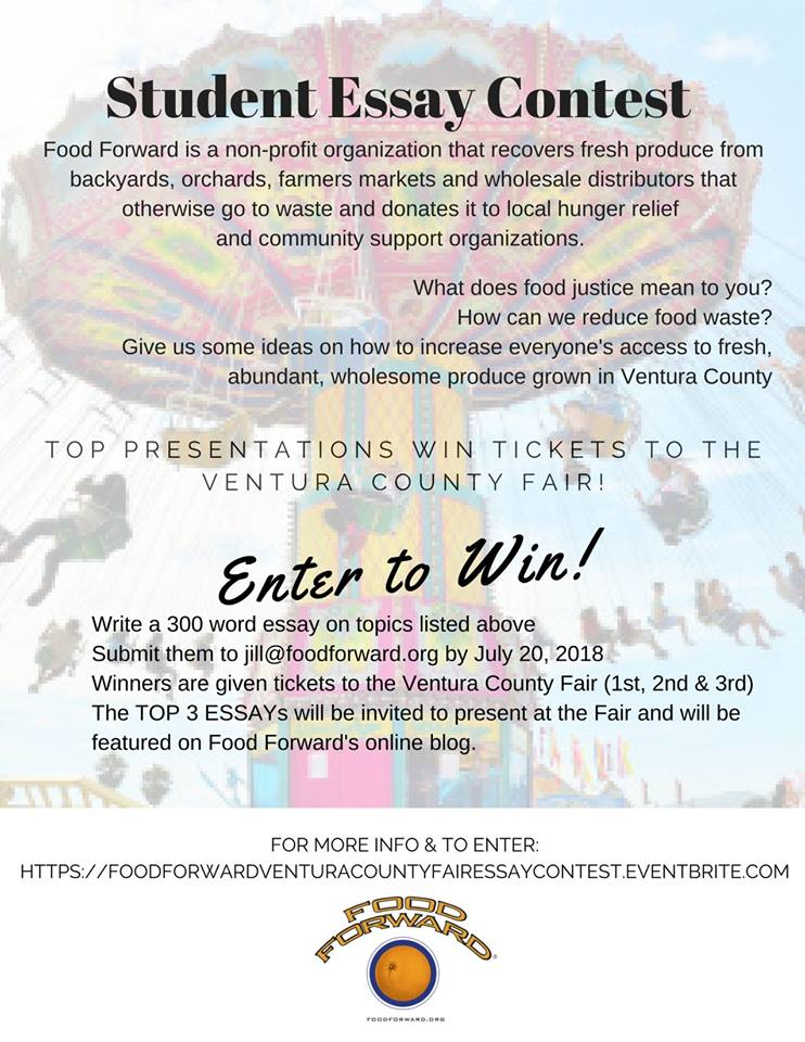 Food Forward Ventura County Fair Essay Contest For Students in K-12th