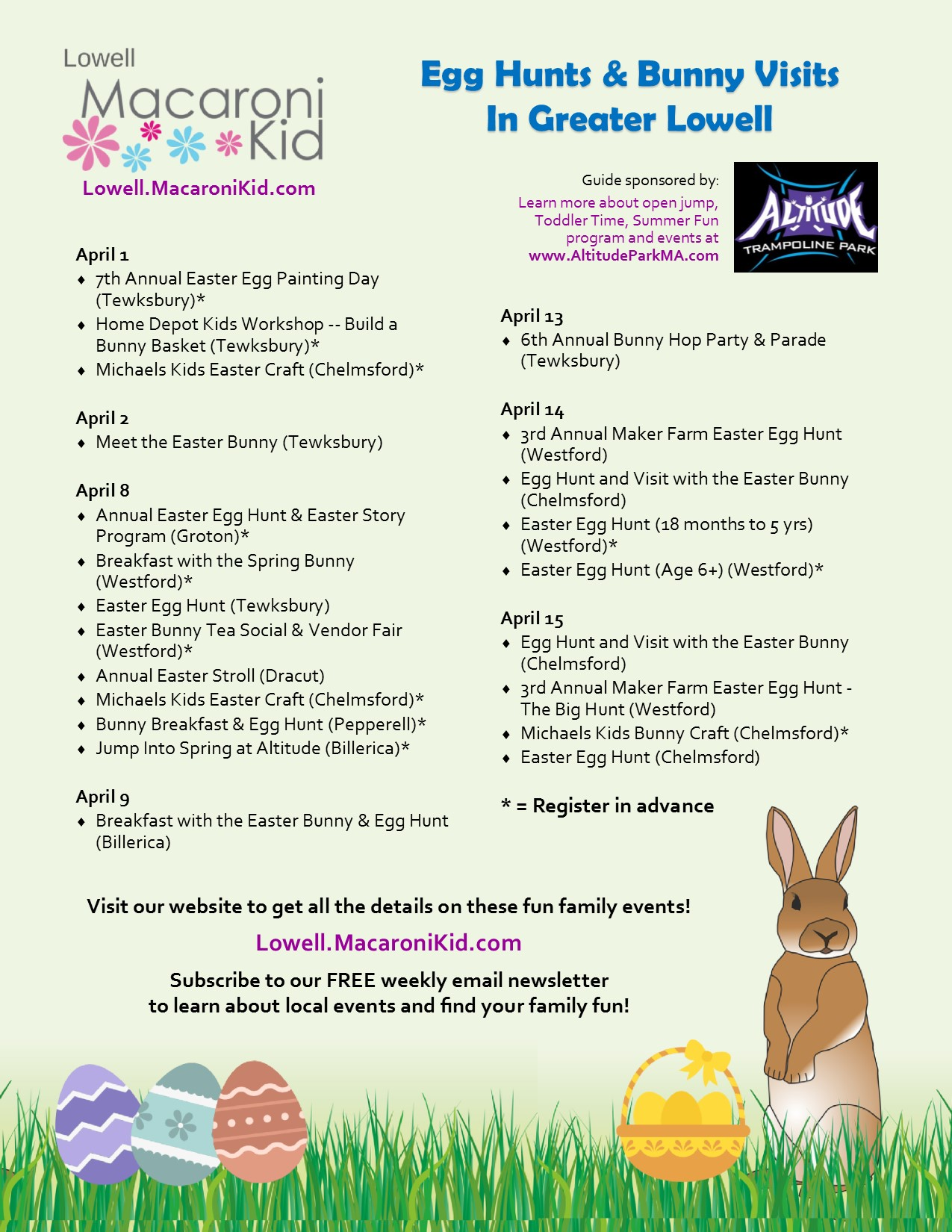 Spring Egg Hunts Easter Events And Bunny Sightings In