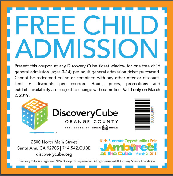 Discovery Cube Coupon >> Jamboree At The Cube 13th Anniversary