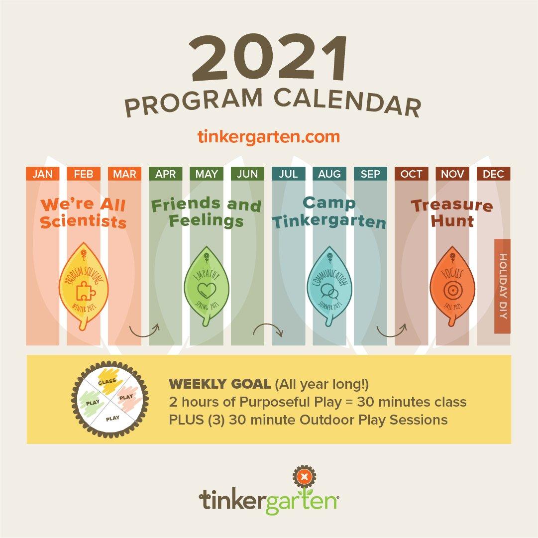 Tinkergarten Program Calendar