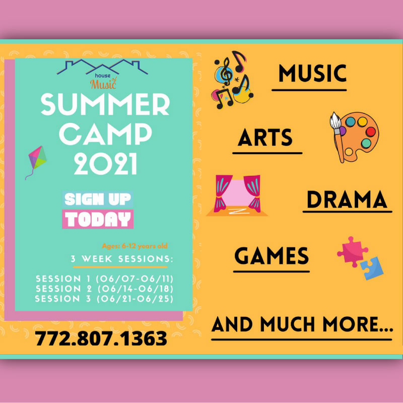 House of Music PSL 2021 Summer Camps