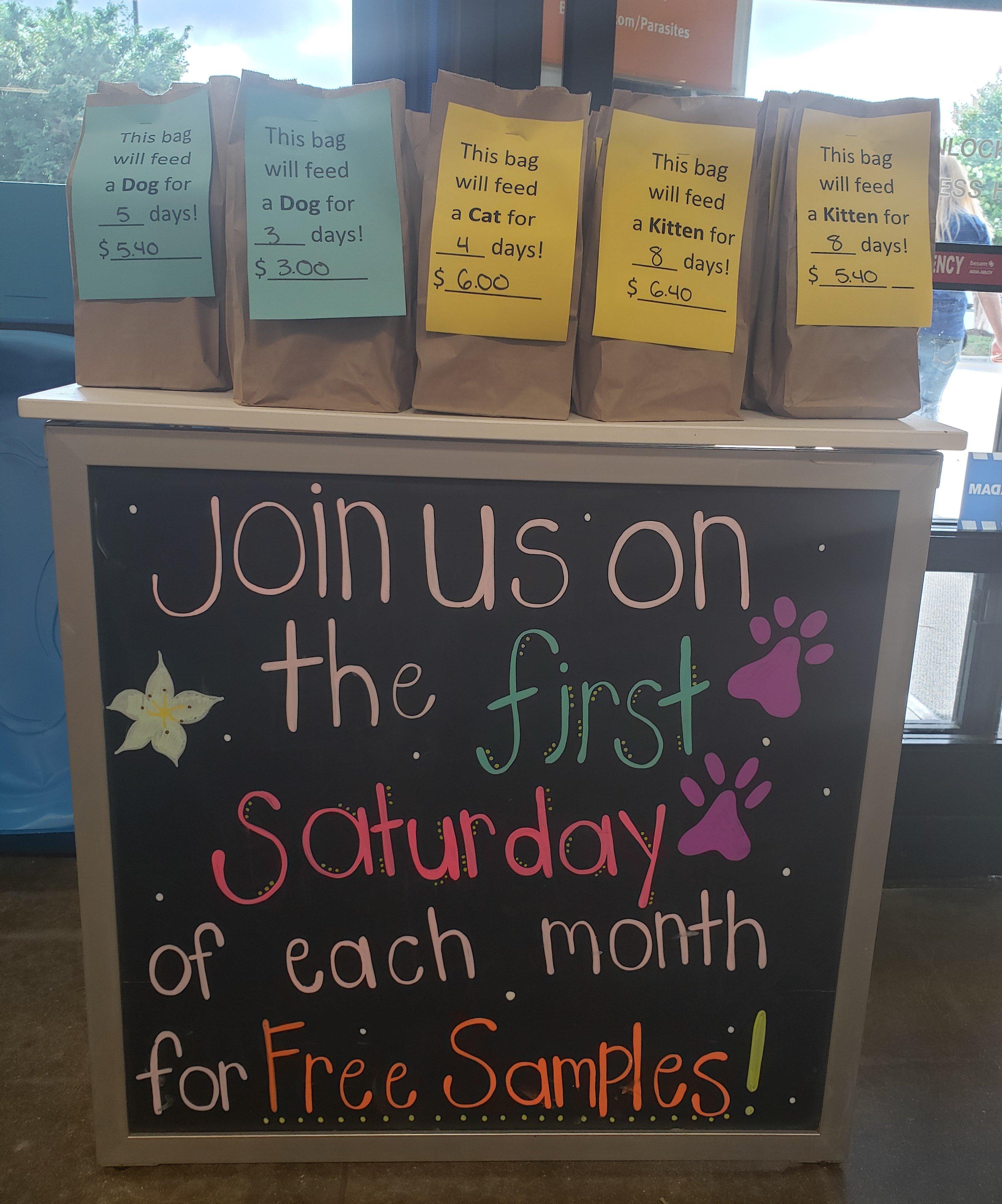 Sample Saturdays at PetSmart
