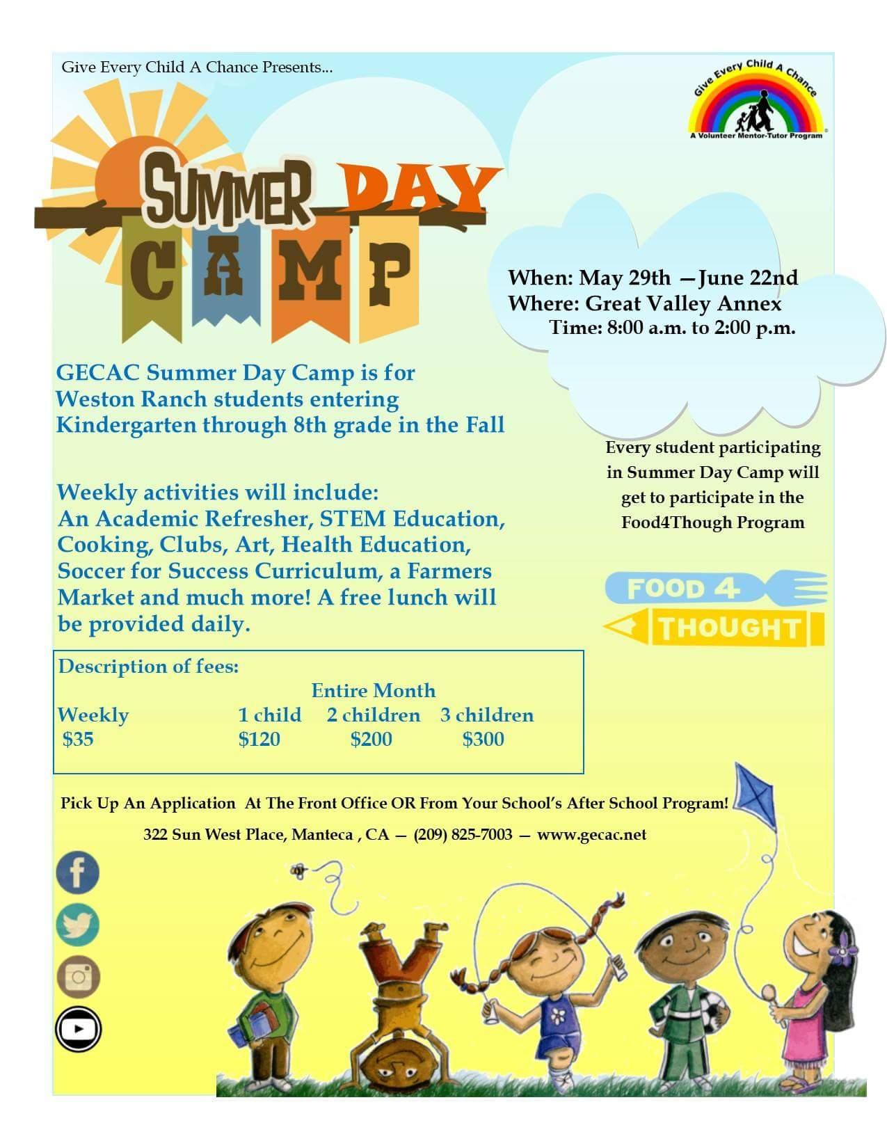 Gecac Summer Day Camp