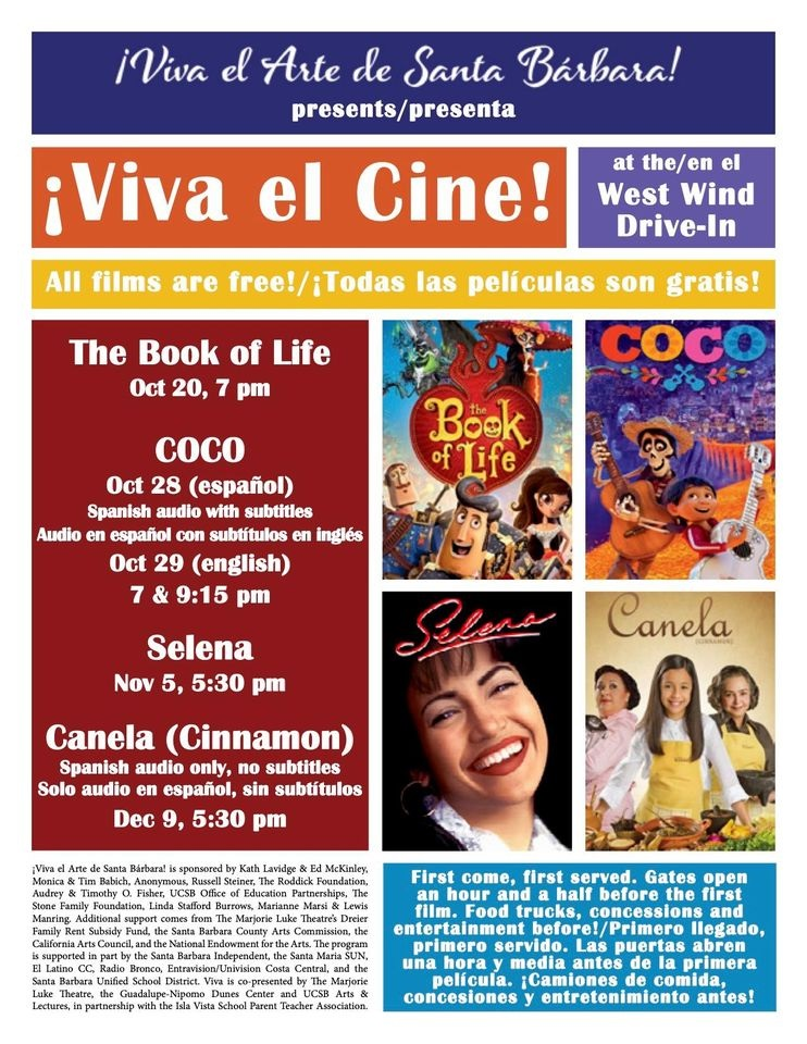 Viva El Cine Movie Screening Selena Movies Under The Stars In Your Cars At West Wind Drive In Macaroni Kid Santa Barbara