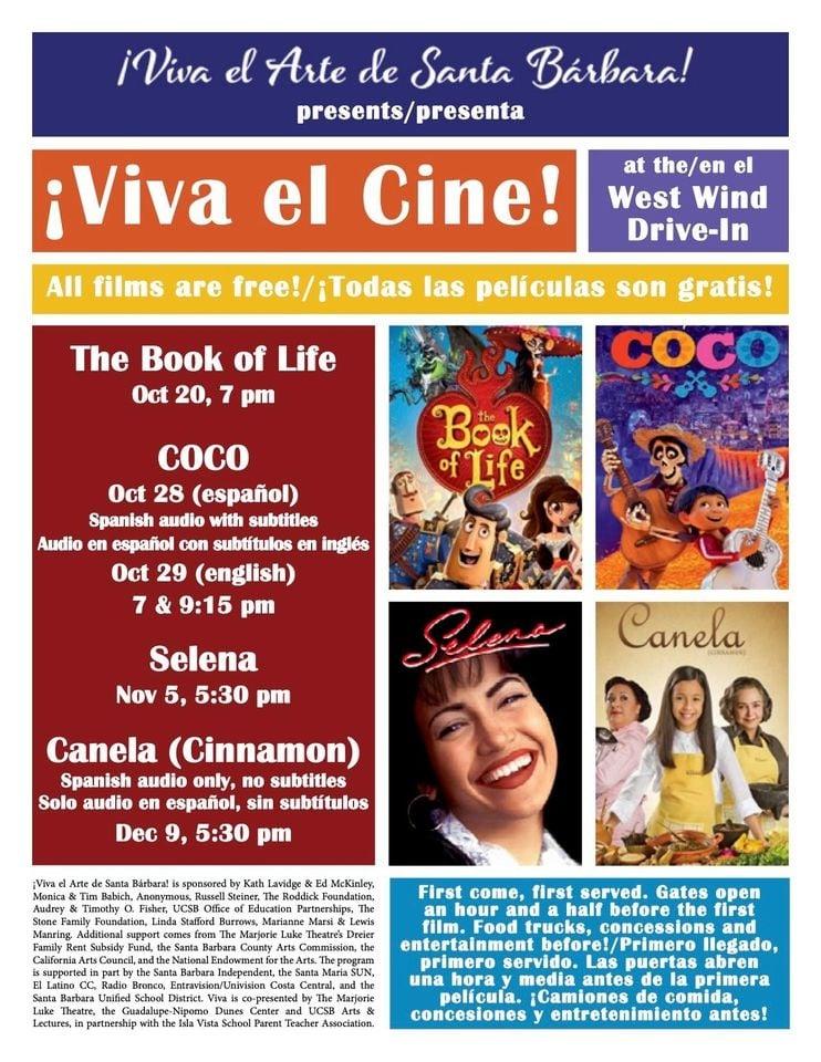 Viva El Cine Movie Screening Selena Movies Under The Stars In Your Cars At West Wind Drive In Macaroni Kid Santa Barbara