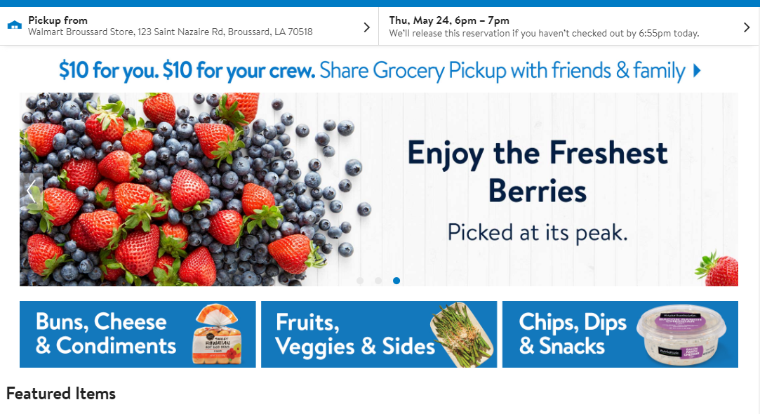 Pick Up Ice Cream With Walmart Online Grocery Pickup This