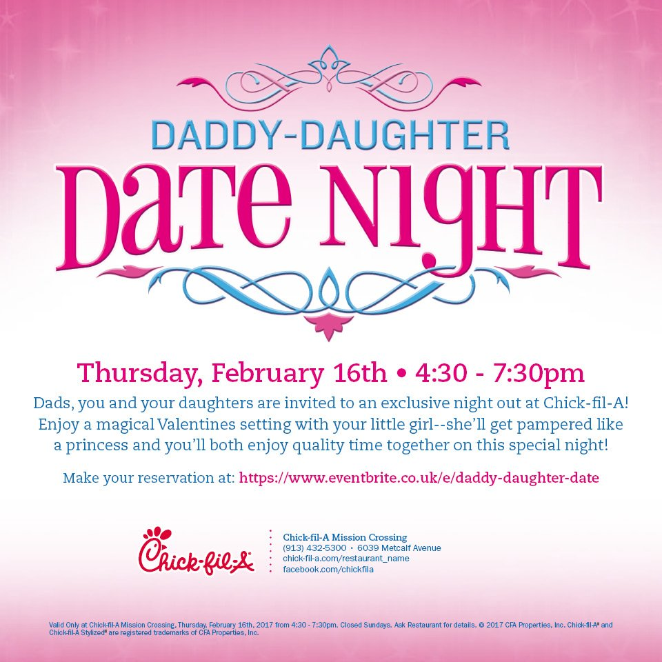 Daddy Daughter Date Night at Chick-Fil-A Mission | Macaroni Kid