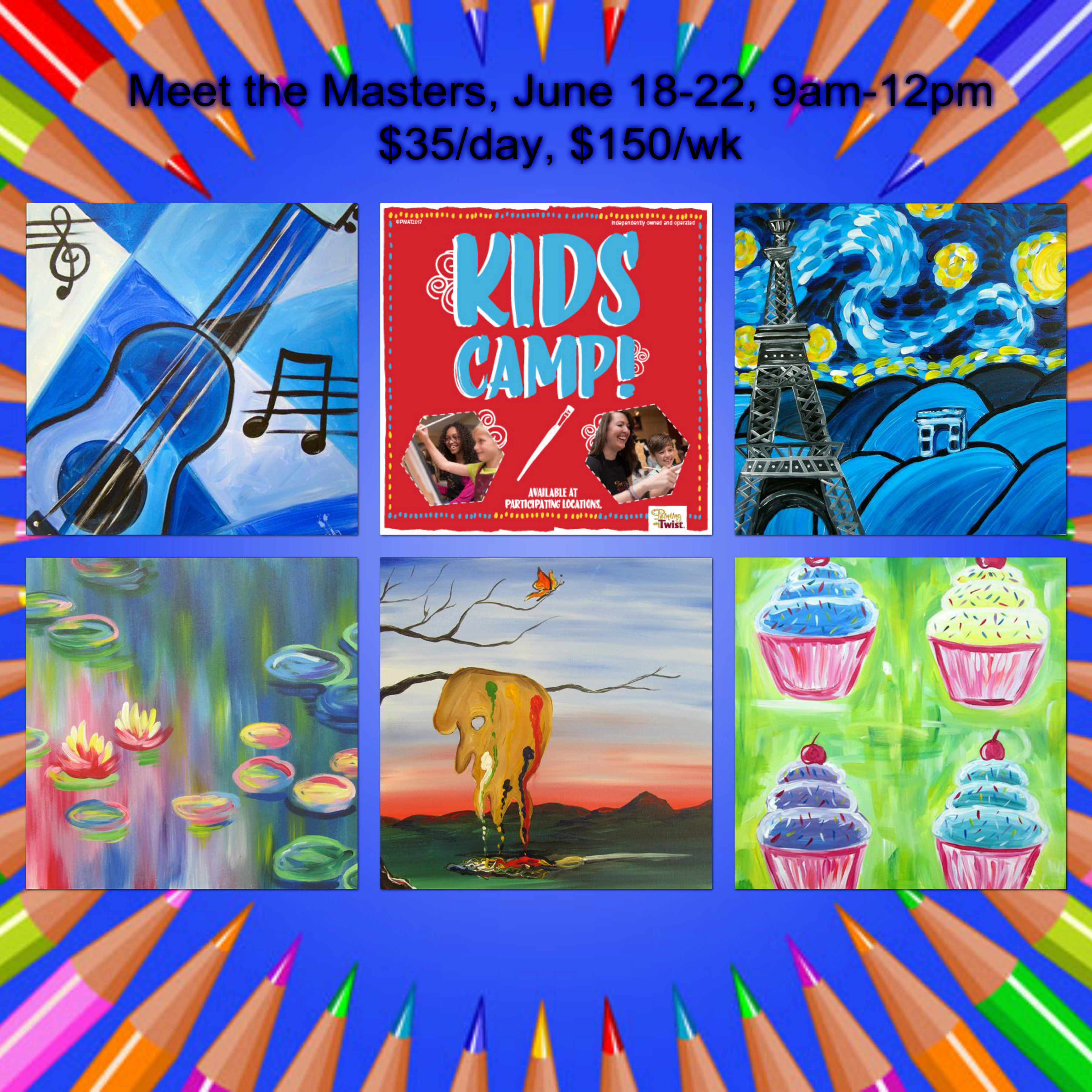 Painting With A Twist Evansville Summer Camp 3 Sessions Available