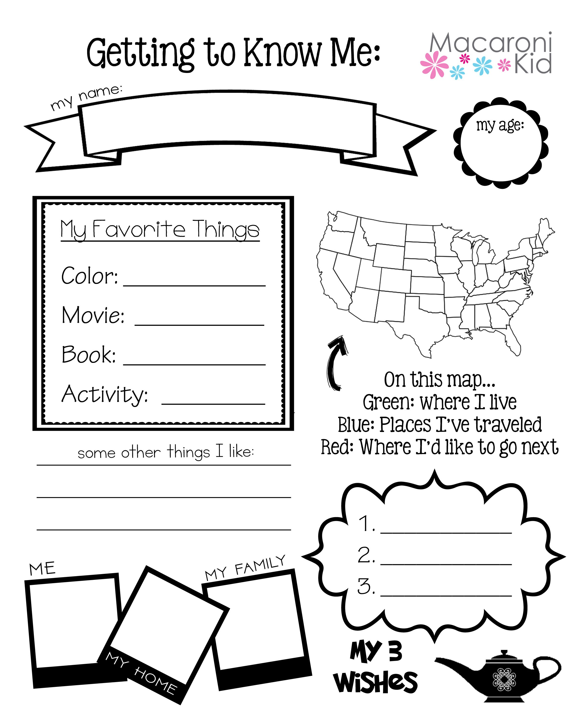 Get to Know Your Pen Pal ~ A Free Guide to Help Break the Ice
