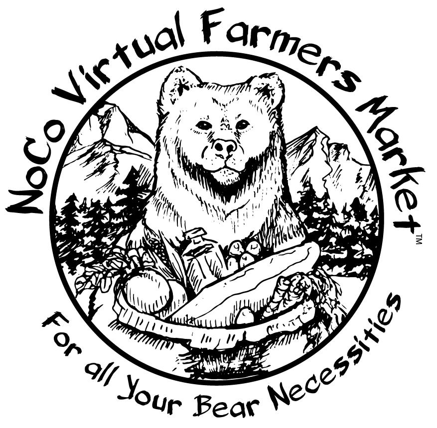 NOCO Virtual Farmers Market BW Logo