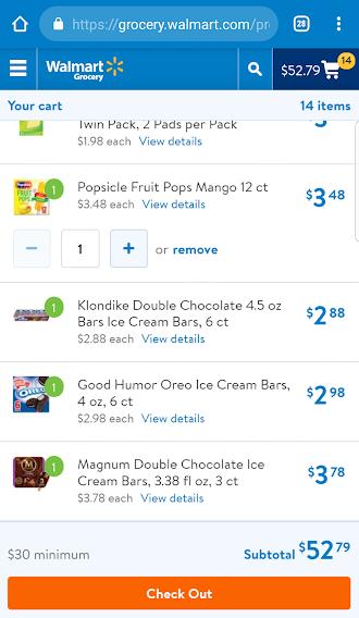 Summer Kickoff - Ice Cream Treats from Walmart Online