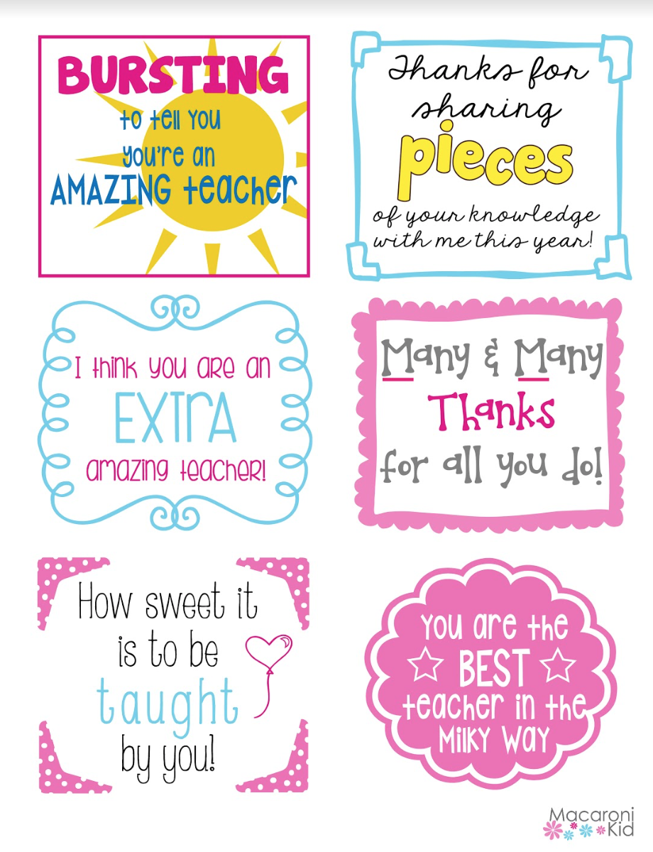 photo regarding Thank You for Sharing Pieces of Your Knowledge With Me Printable identify Rejoice Trainer Appreciation 7 days with this kind of Totally free Printables!