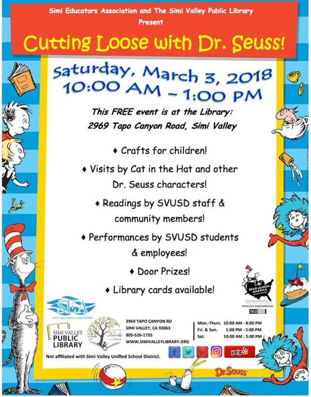 Simi Valley Library Read Across America Event Cutting Loose With