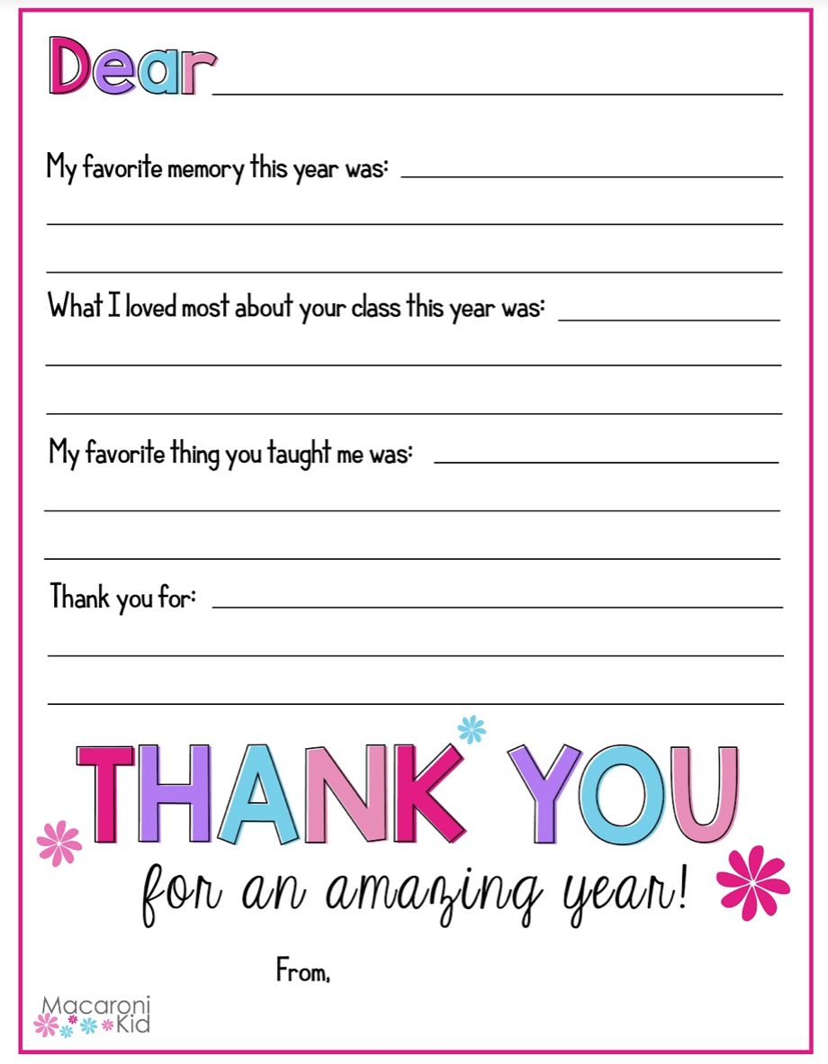 graphic relating to Thank You Teacher Free Printable identified as Rejoice Trainer Appreciation 7 days with People Totally free Printables!