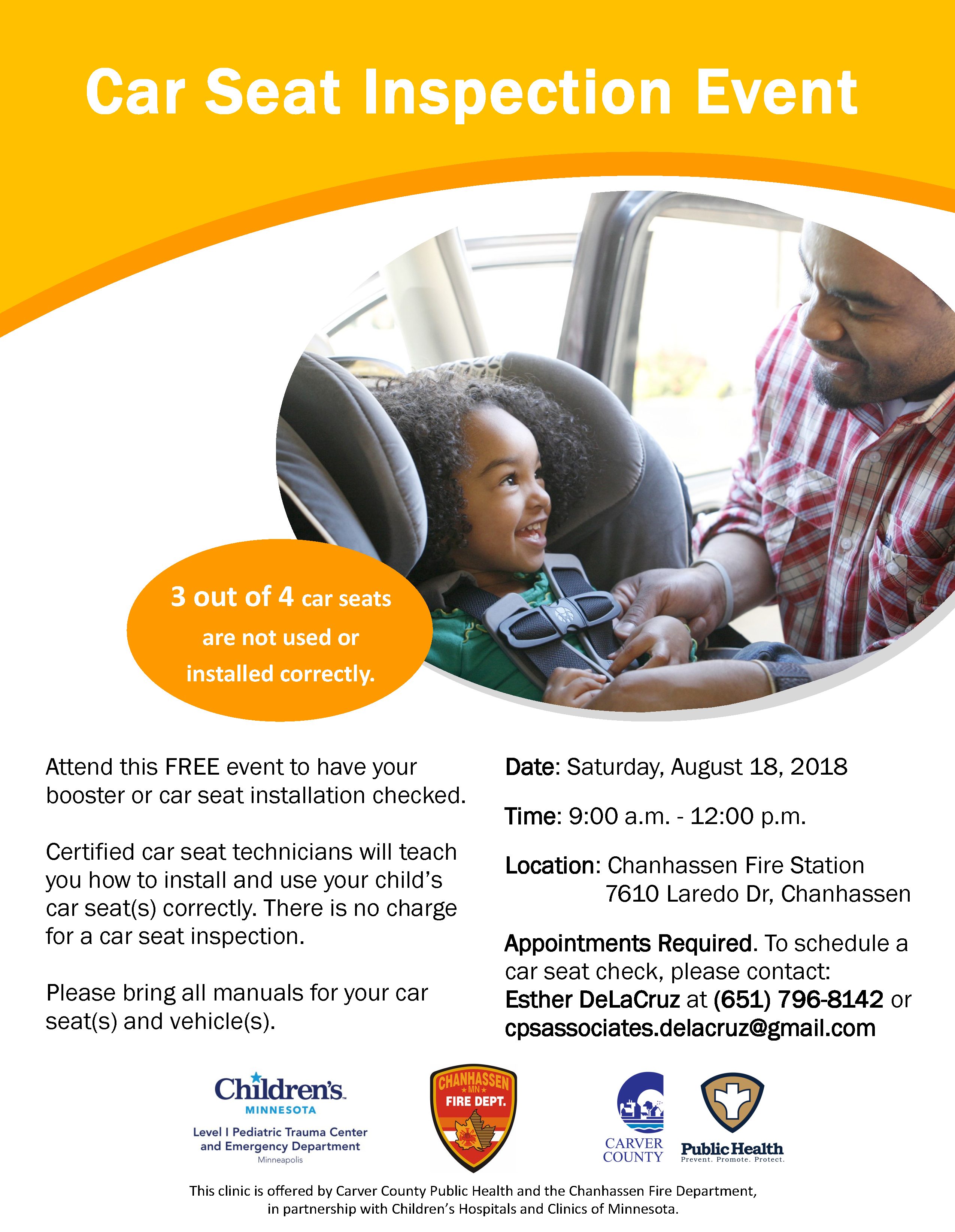 This Clinic Is Offered By Carver County Public Health And The Chanhassen Fire Department In Partnership With Childrens Hospitals Clinics Of Minnesota