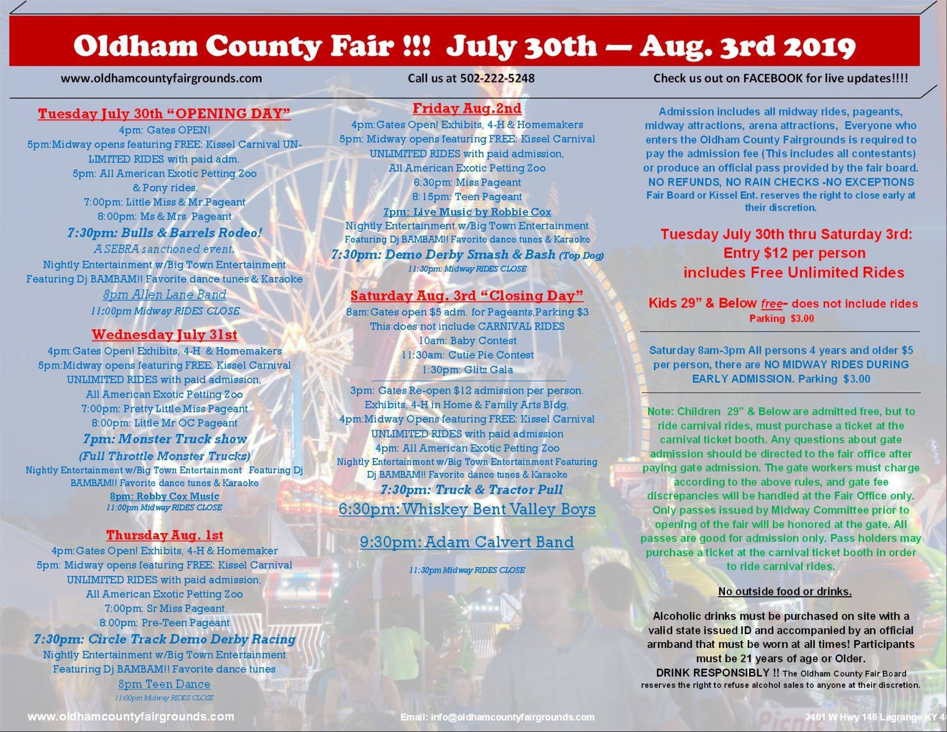 Giveaway** Win 4 Tickets to the Oldham County Fair