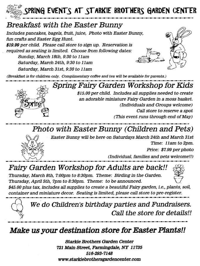 The Easter Bunny Is Coming To Starkie Brothers Garden Center .
