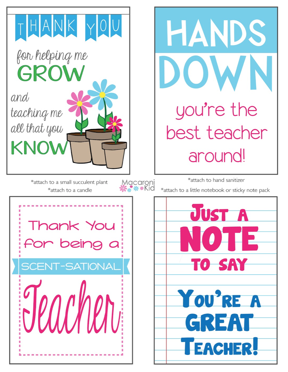 graphic about Hands Down You Re the Best Teacher Around Free Printable titled Rejoice Trainer Appreciation 7 days with these kinds of Free of charge Printables!