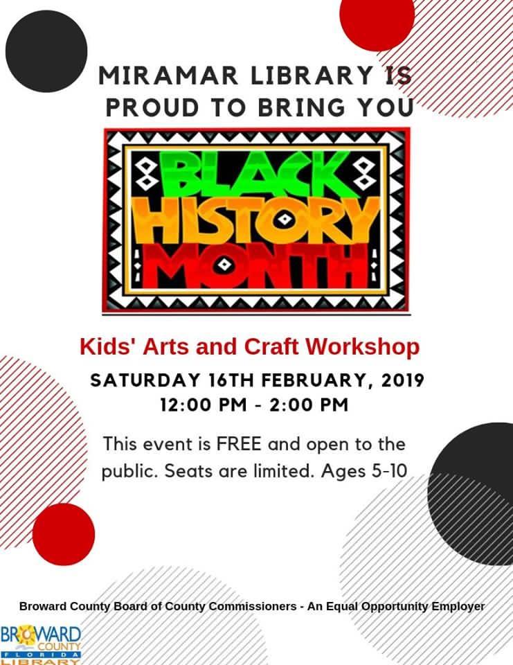 Black History Month Kid S Craft Workshop Macaroni Kid