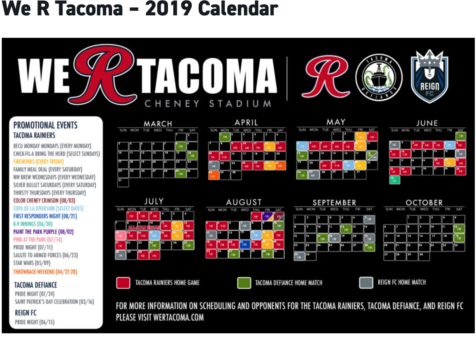 ⚽ WE R TACOMA ⚾ ORDER YOUR BASEBALL OR SOCCER GAME TICKETS