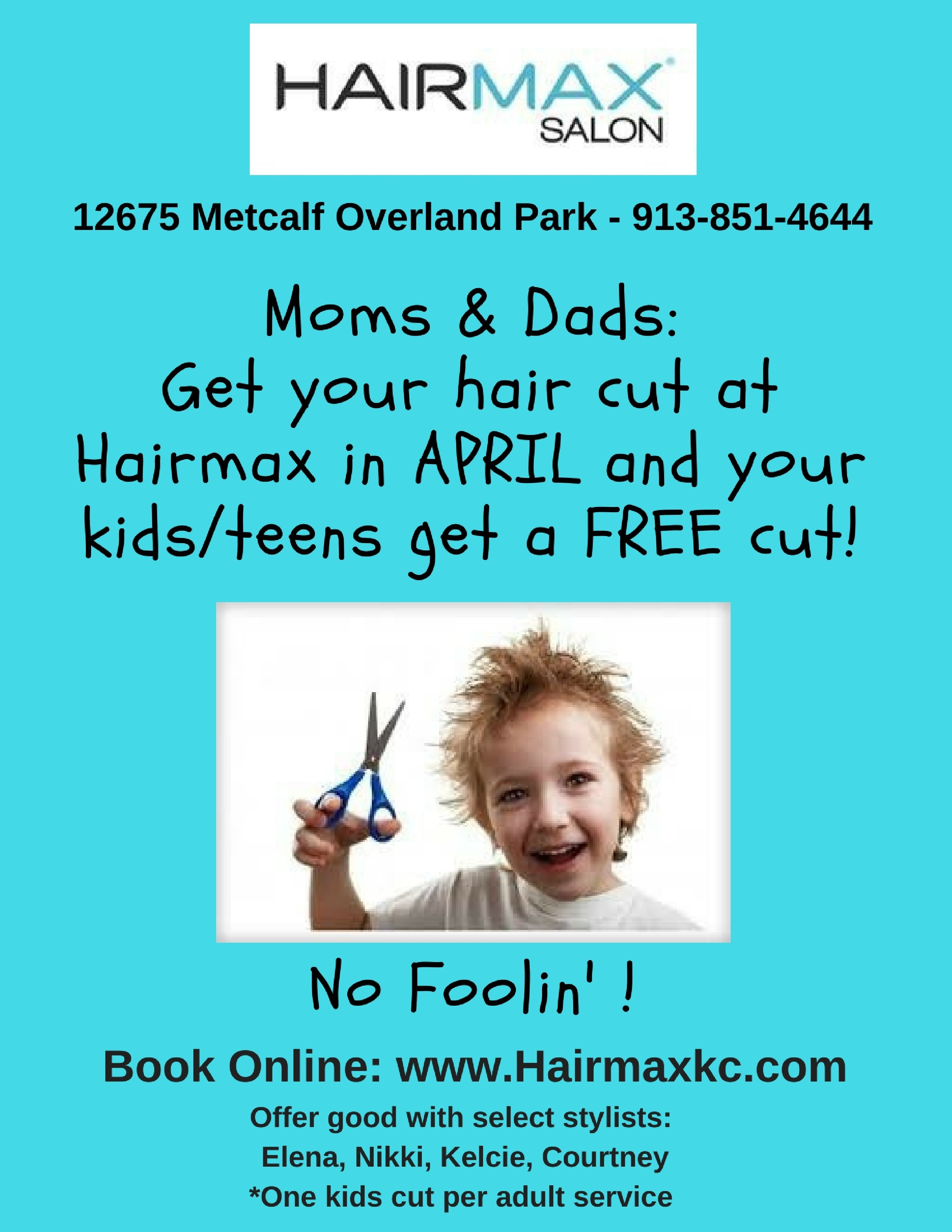 Get A Free Haircut For Your Childteen At Hairmax Salon Macaroni Kid