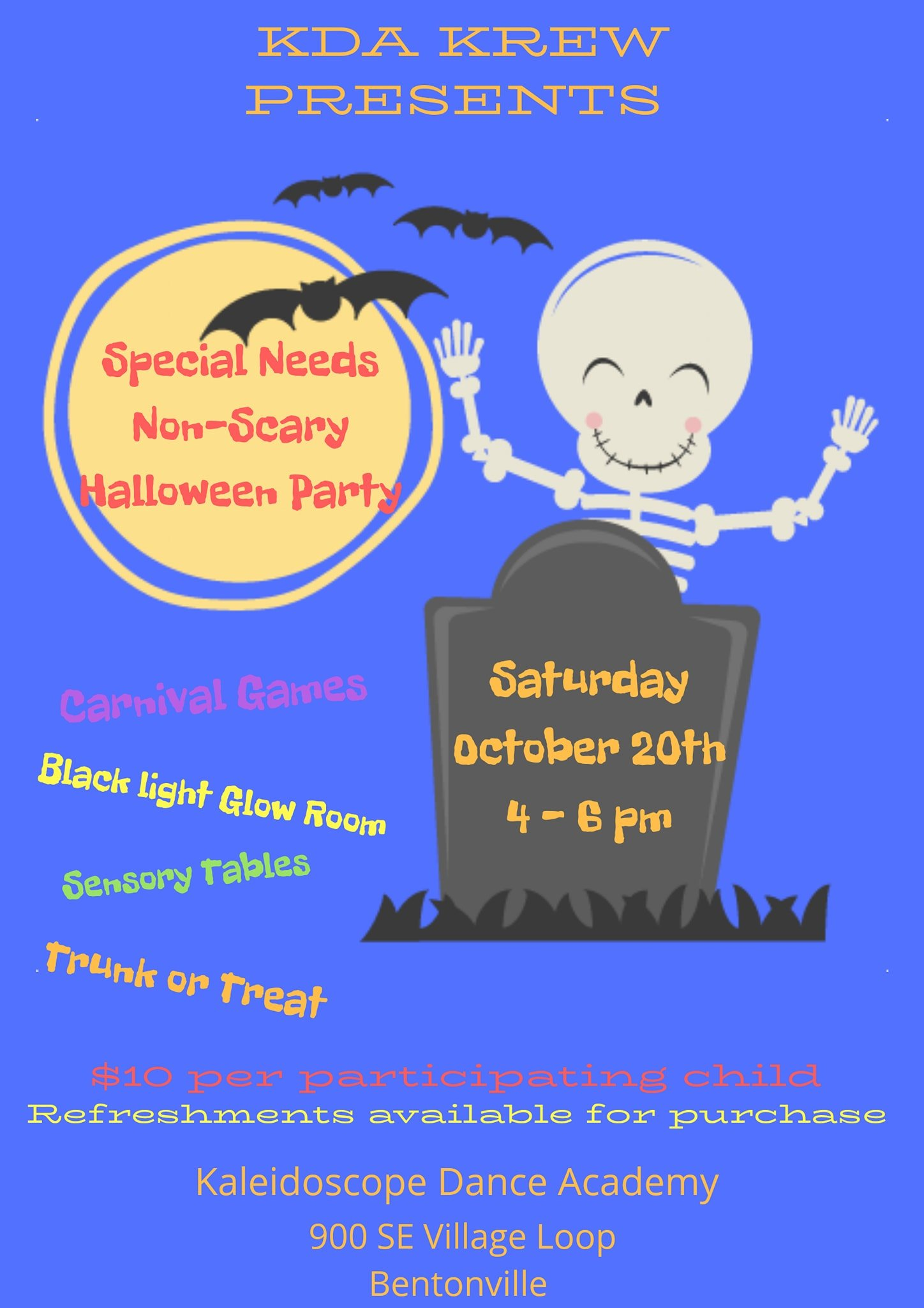 special needs non-scary halloween party @ kaleidoscope dance academy