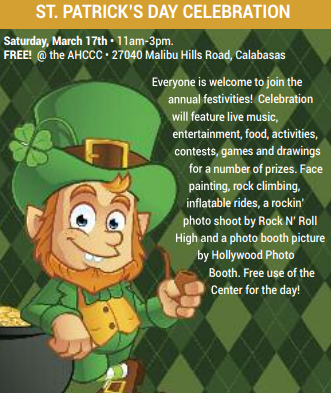 Agoura Hillscalabasas Community Center 12th Annual St Patricks