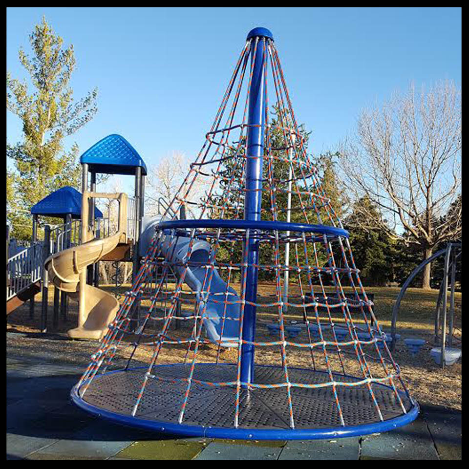 Playground at Willow Creek Park in Centennial, Colorado