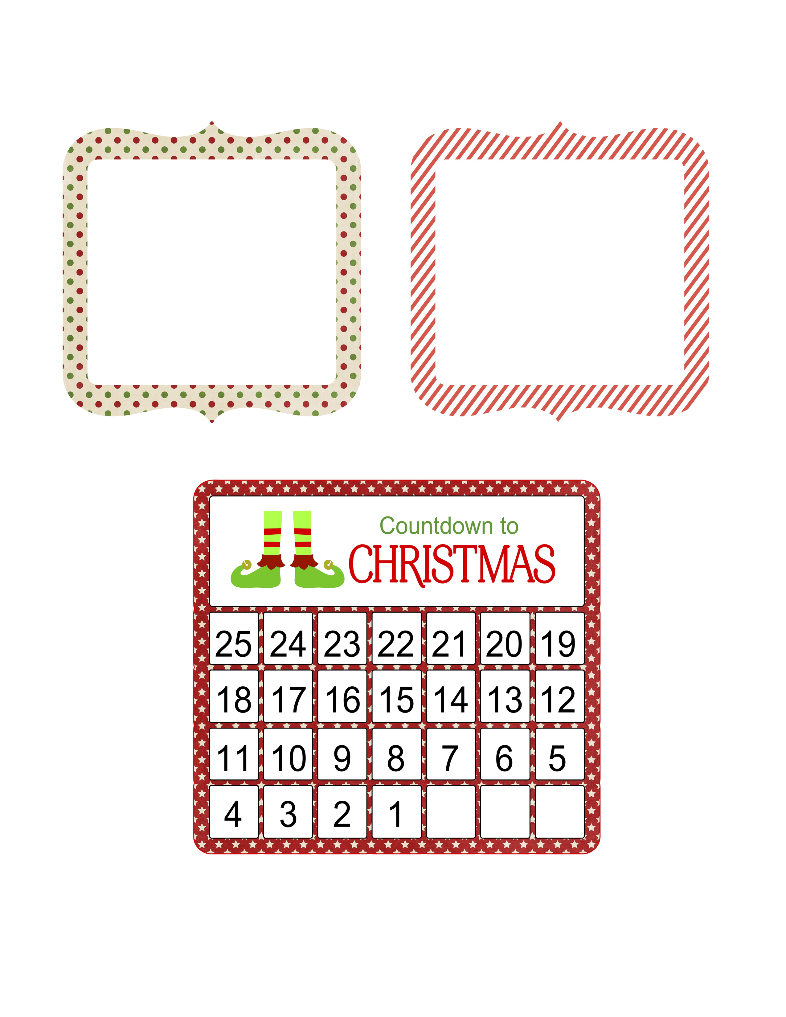 picture about Printable Countdown Calendar titled Printable Countdown in the direction of Xmas Calendar and observe playing cards