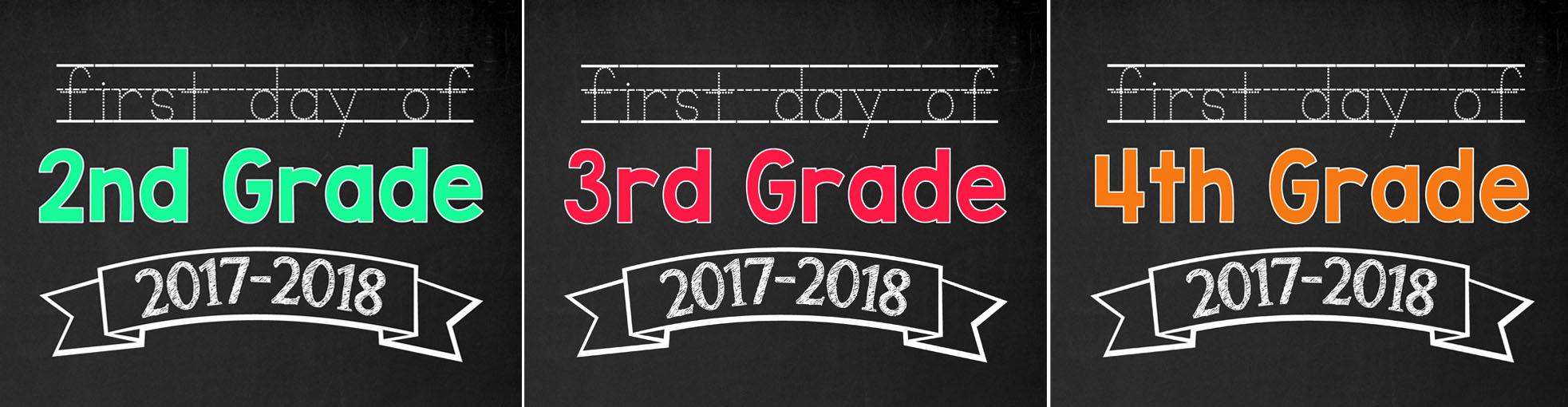 photo about First Day of 3rd Grade Sign Printable named Back again towards University Printable Indicators