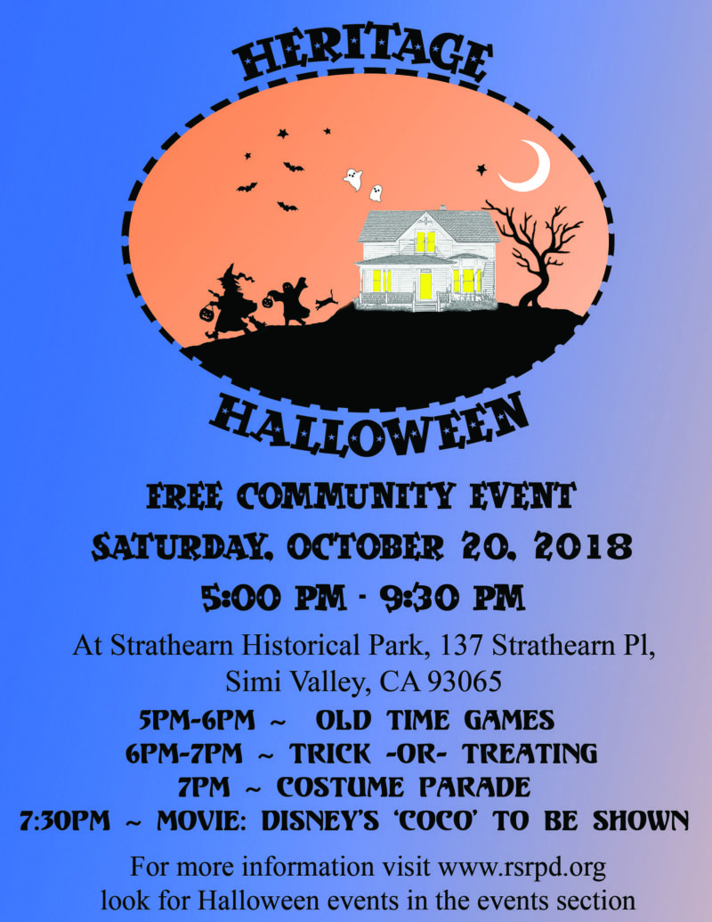 Rancho Simi Recreation & Park Presents Heritage Halloween and Movie ...