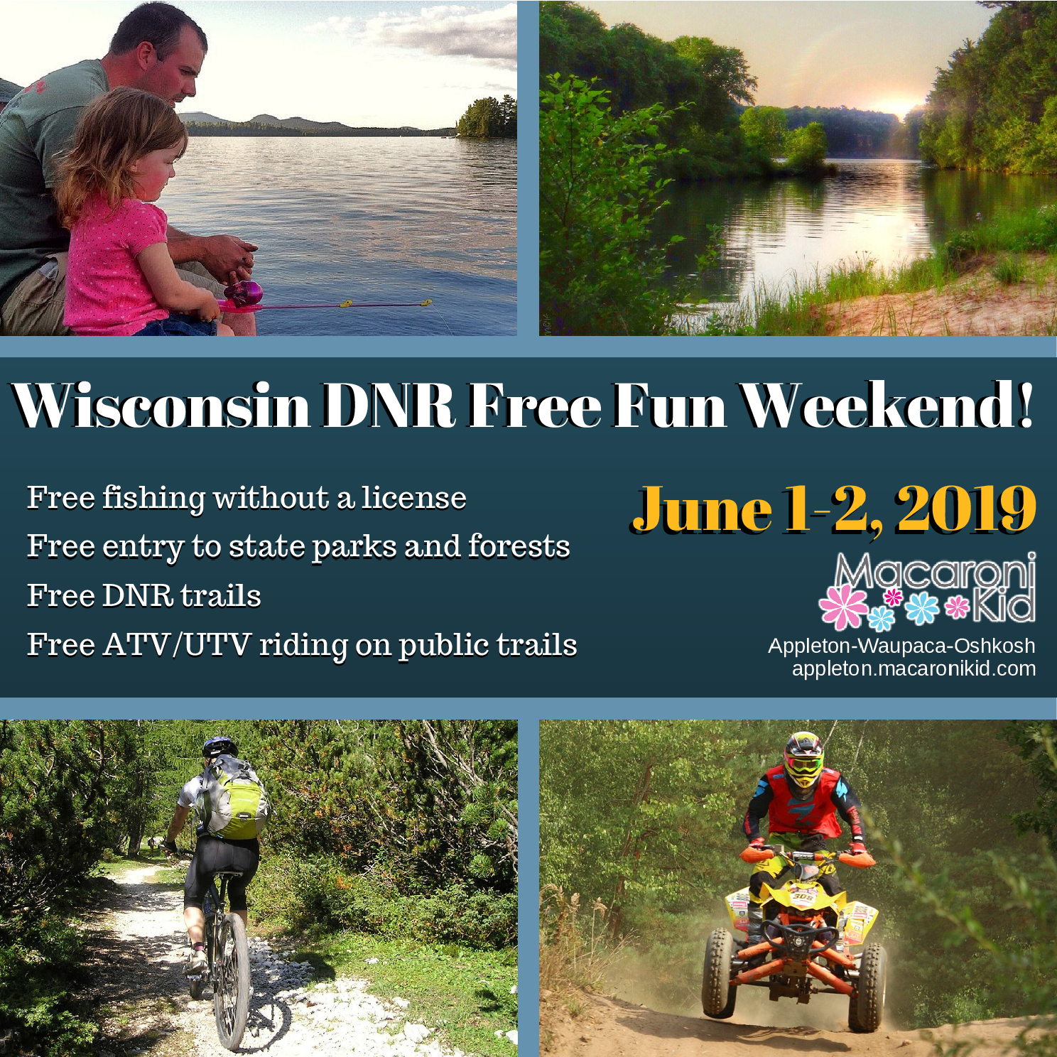 Wisconsin DNR Free Fun Weekend: Find Your Family Fun Outdoors!