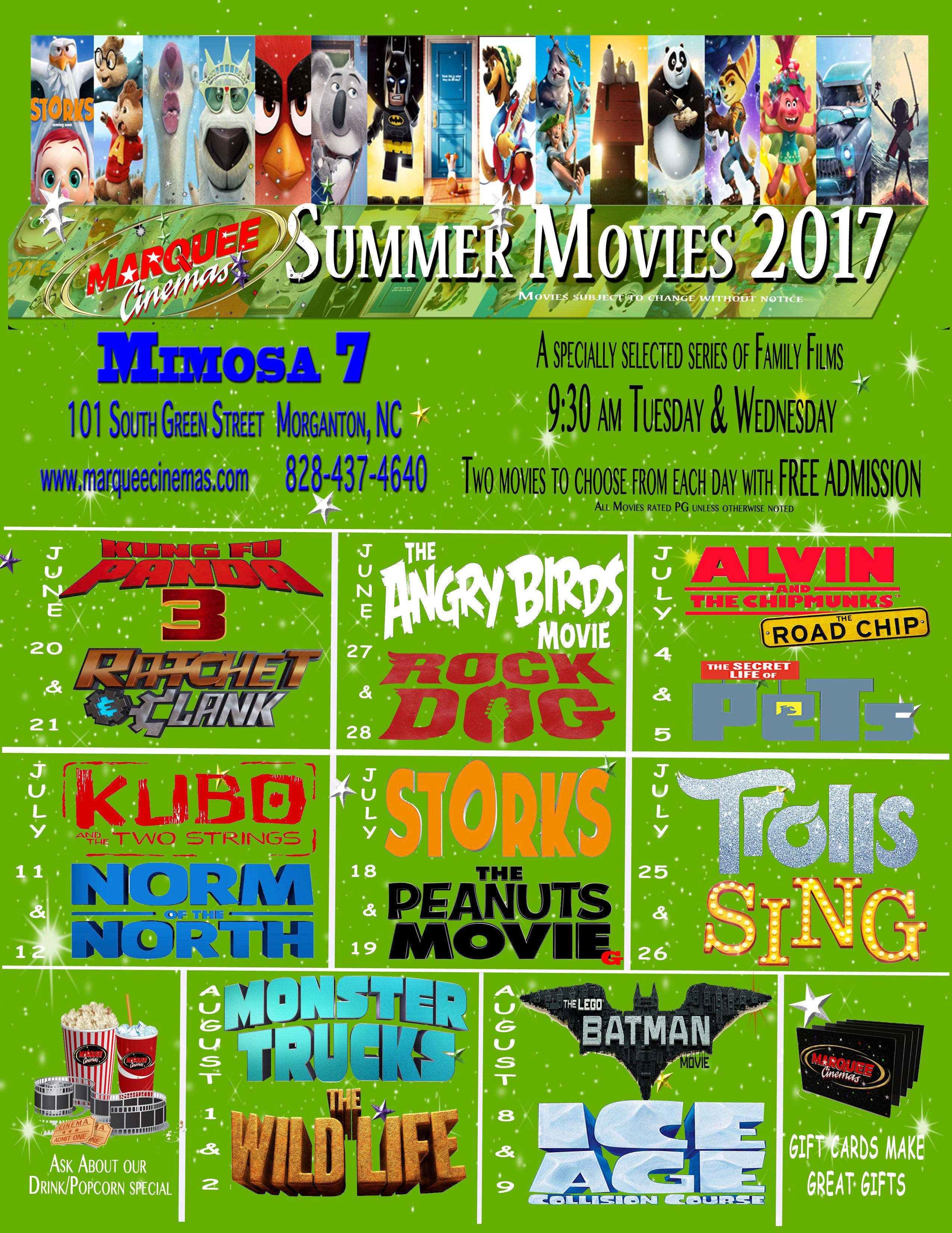 Carmike Hickory Nc >> Kids Summer Movie Series