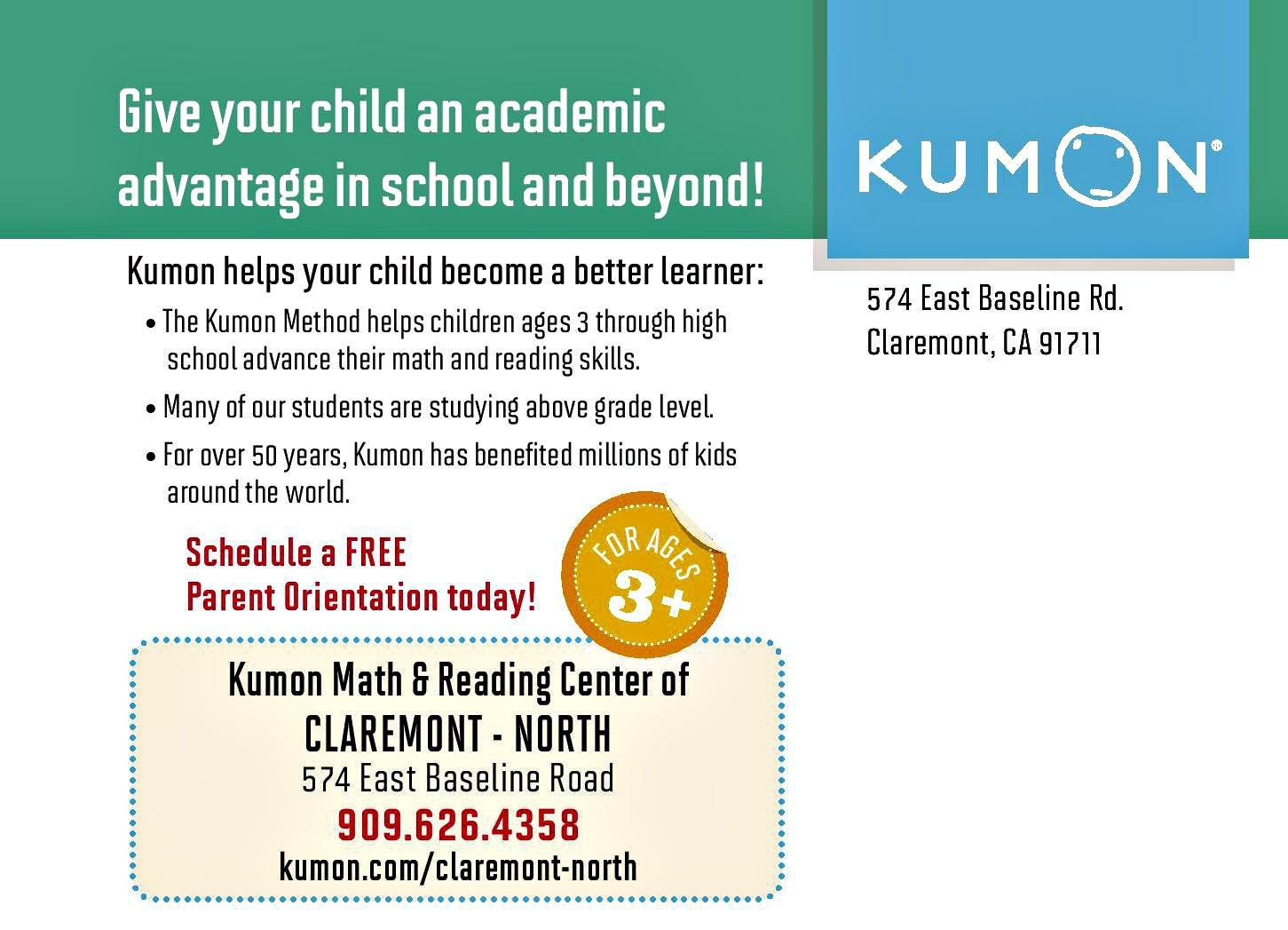 Kumon Math and Reading Center of Claremont-North | Macaroni Kid