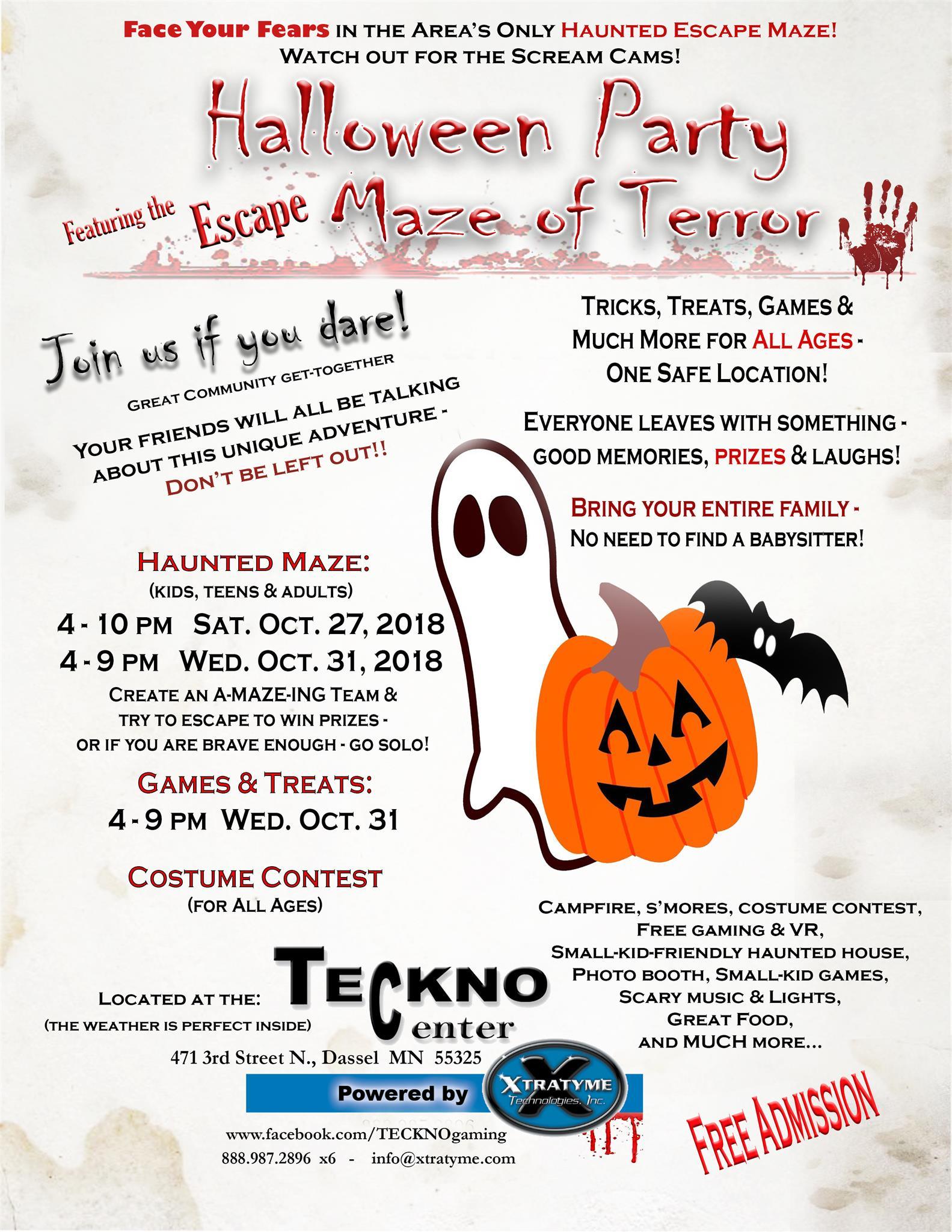halloween party and escape maze of terror - dassel | macaroni kid