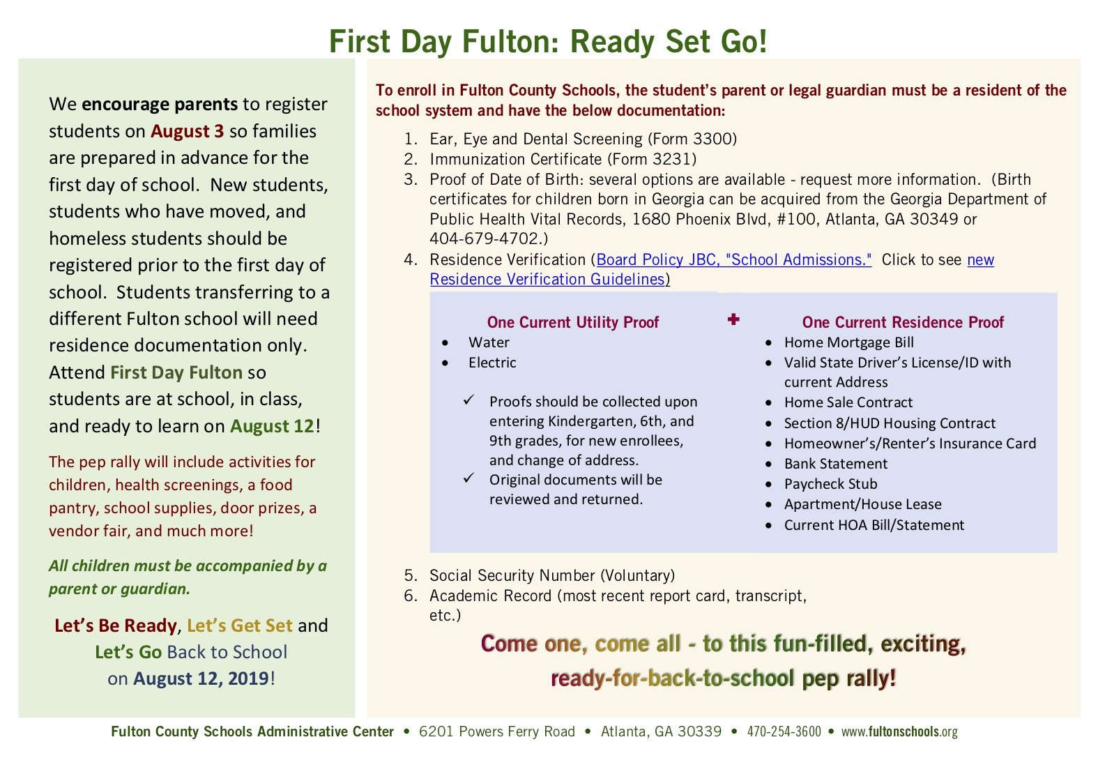 Meet MacKid at FCS First Day Fulton Back-to-School Pep Rally