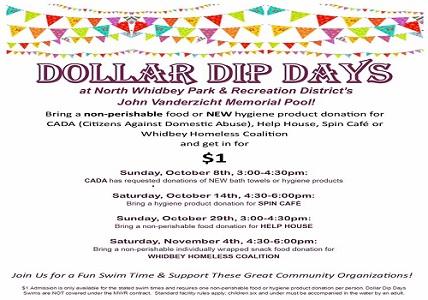 Dollar Dip Days Swimming Discount For Donations At Oak Harbor Pool
