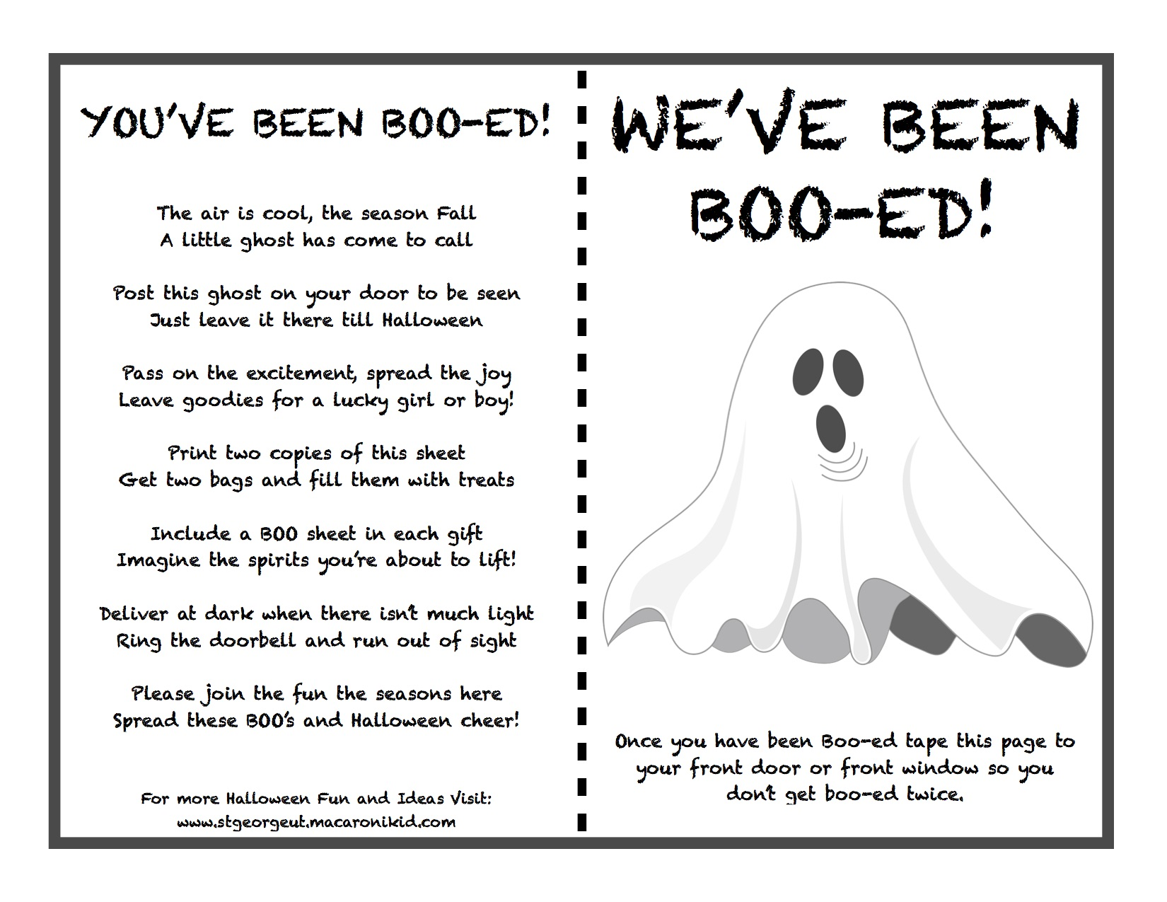 picture relating to Boo Printable titled 👻 BOO Printable for all Your Neighbors within Southern Utah