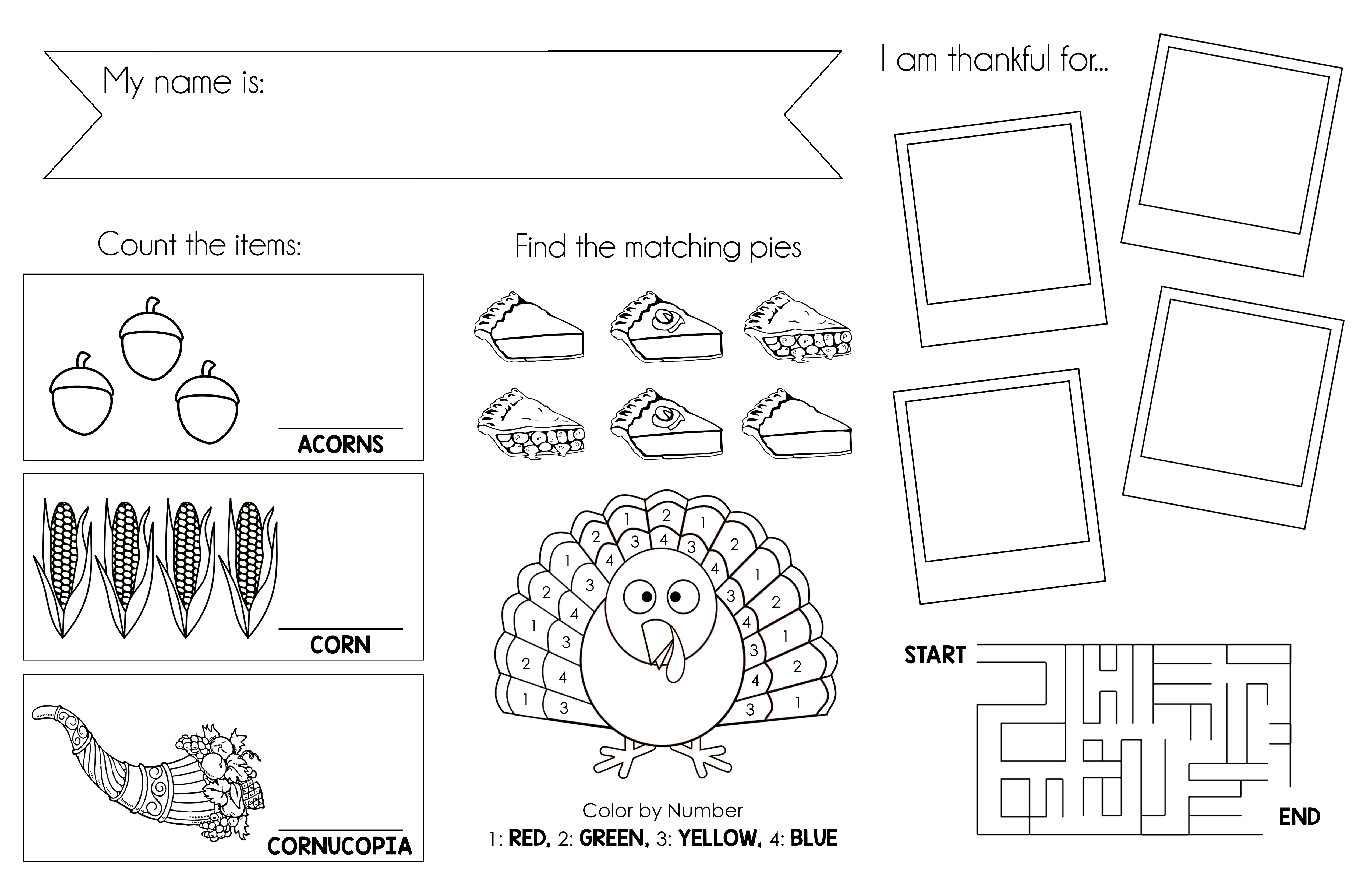 image regarding Printable Placemats referred to as Thanksgiving Printable Placemat
