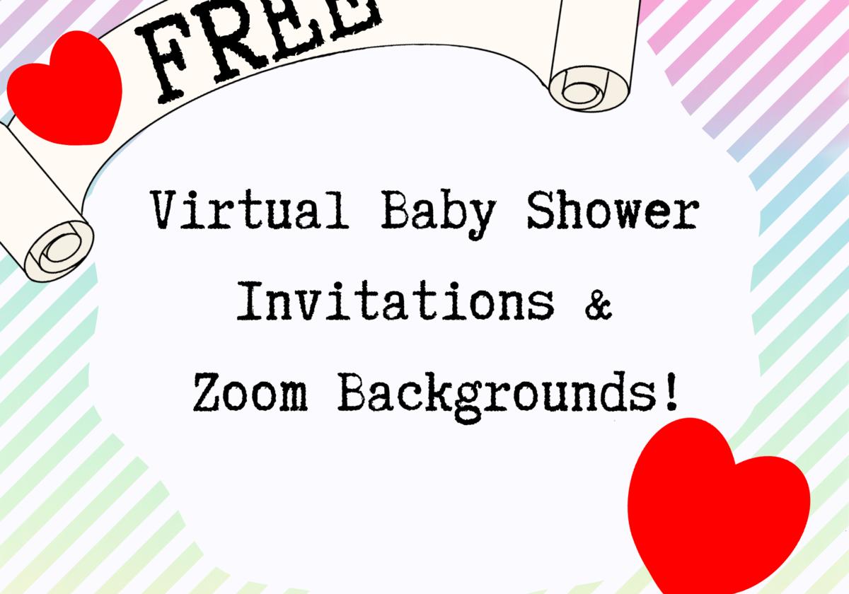 Baby Shower Zoom Background Free