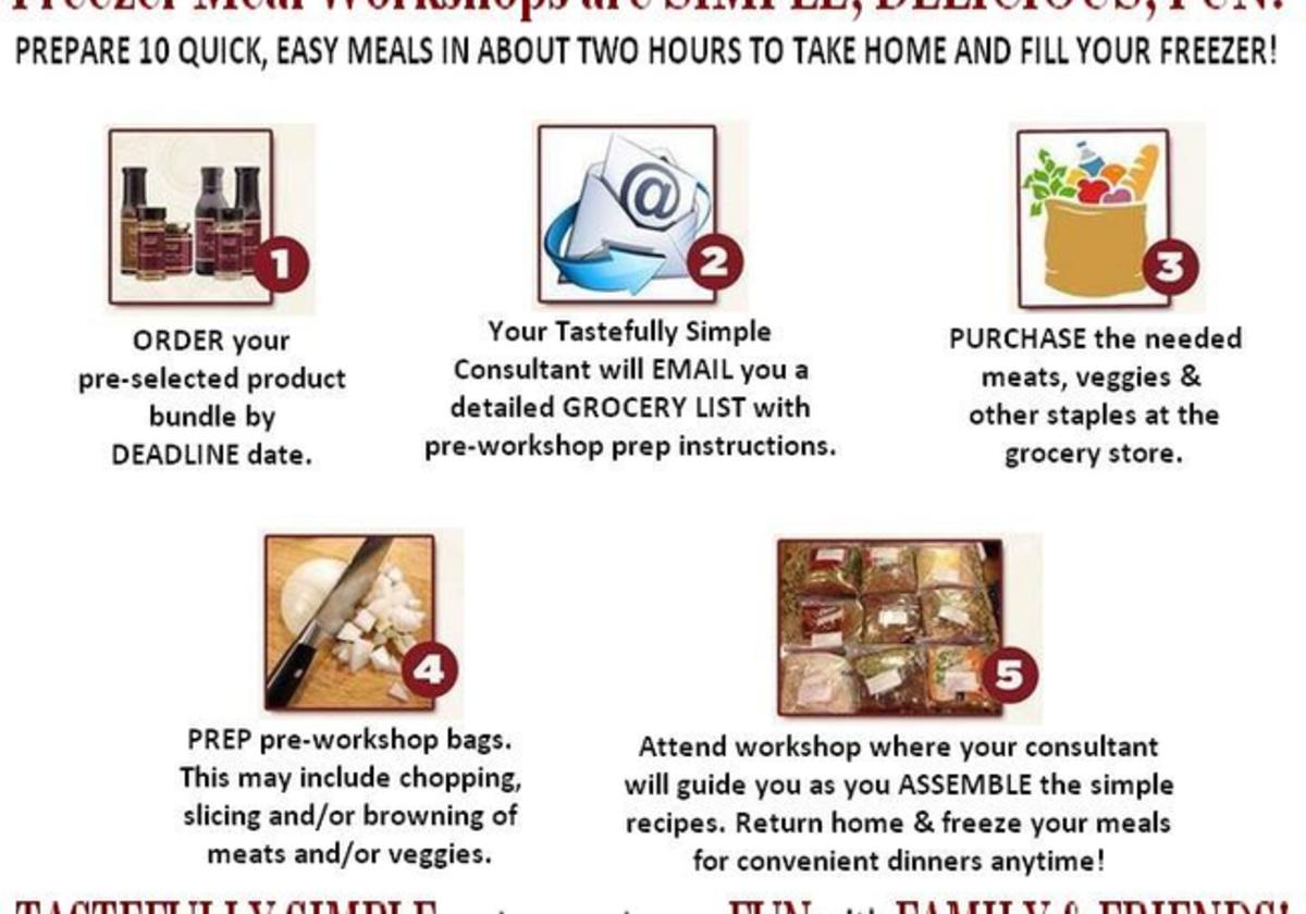 Host A Freezer Meal Workshop With Tastefully Simple Macaroni Kid Woodbridge