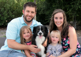 Ashley Cunningham and family Temecula Murrieta French Valley California border collie dog rescue