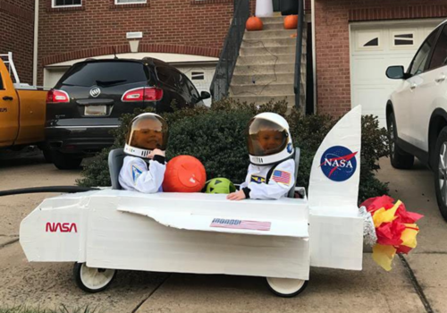 NASA wagon costume