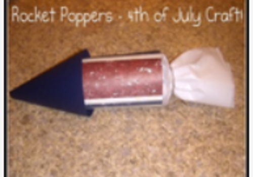 Rocket Poppers 4th of July Independence Day Craft