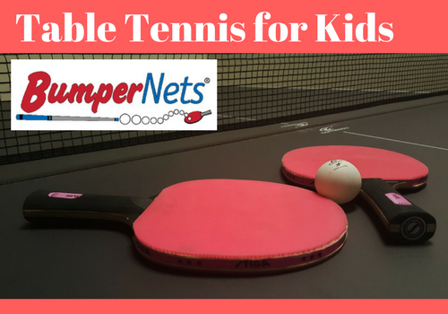 Getting kids started playing table tennis with BumperNets