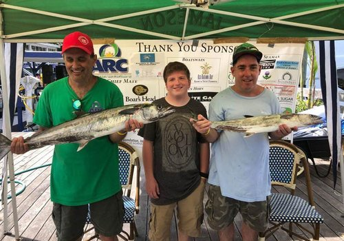2021 Arc of Martin County KDW Fishing Tournament Anglers show their catch