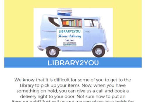 Chestermere Library Home Delivery