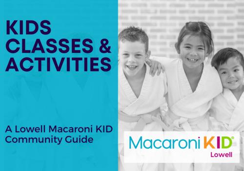 Kids in martial arts uniforms