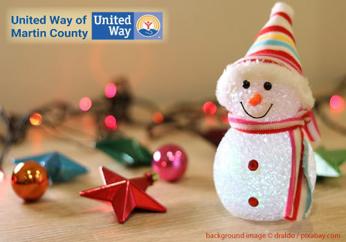 United Way 2019 Holiday Project - Snowman Holiday Background