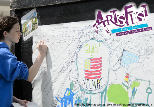 Live Art Exhibitions at 2015 ArtsFest